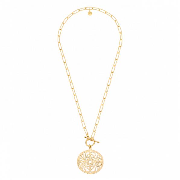 Chain necklace with a rosette Mokobelle