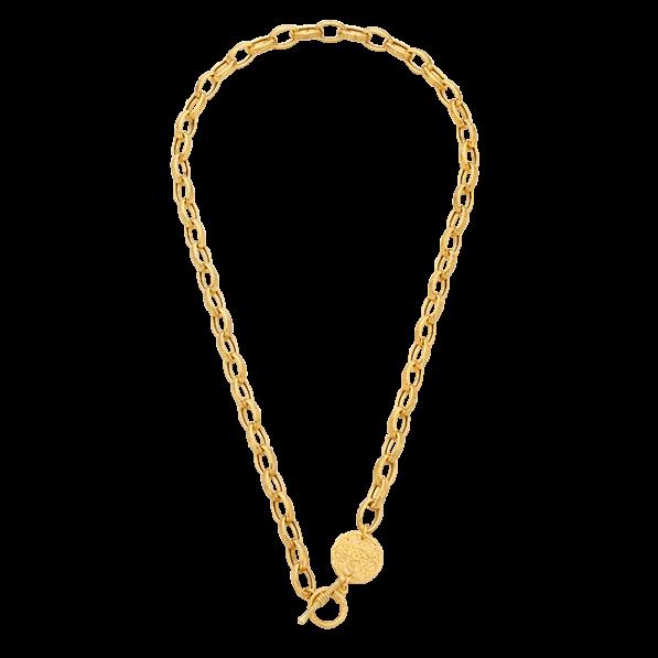 Choker on a chain with medallion Mokobelle
