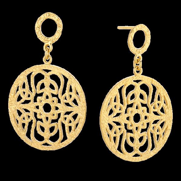 Mokobelle rosette earrings