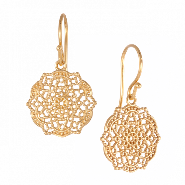 Earrings with Estella rosette